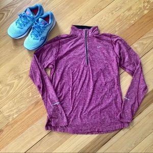 Heathered Pink Quarter Zip Nike Running Jacket